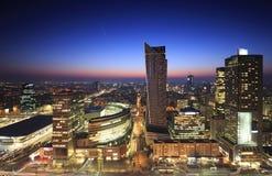 Panorama del centro urbano di Varsavia Fotografia Stock Libera da Diritti