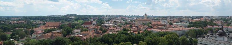 Panorama del centro urbano di Vilnius, Lituania Fotografia Stock