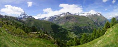 Panorama del Cervino, Svizzera Fotografia Stock