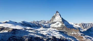 Panorama del Cervino, Svizzera Immagini Stock Libere da Diritti