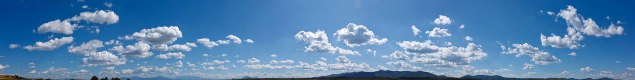 Panorama del cielo Fotografia Stock