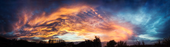 Panorama del cielo Fotografía de archivo libre de regalías