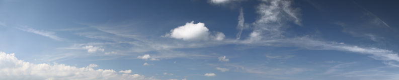 Panorama del cielo Fotografie Stock