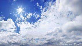 Panorama del cielo azul de XXXL fotos de archivo