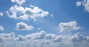 Panorama del cielo blu Immagini Stock Libere da Diritti