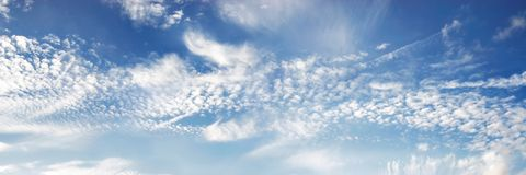 Panorama del cielo blu Fotografia Stock Libera da Diritti
