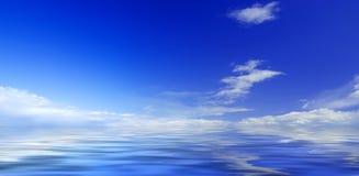 Panorama del cielo e del mare Immagini Stock Libere da Diritti