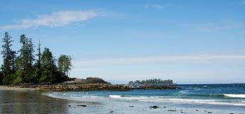 Panorama del cielo e della spiaggia Fotografie Stock