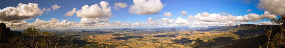 Panorama del cielo nublado Imagen de archivo libre de regalías