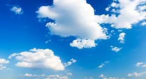Panorama del cielo nuvoloso Fotografia Stock