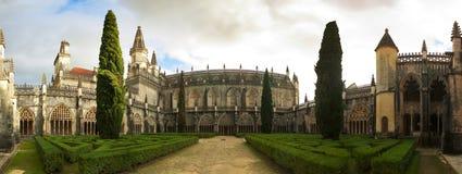 Panorama del claustro de Batalha Fotos de archivo