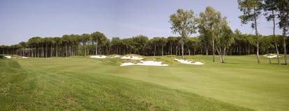 Panorama del club de golf Foto de archivo libre de regalías