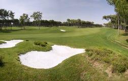 Panorama del club de golf Fotografía de archivo