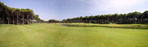 Panorama del club di golf Immagini Stock