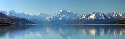 Panorama del cocinero del montaje, Nueva Zelandia Imagenes de archivo