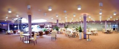 Panorama del comedor del hotel Foto de archivo libre de regalías