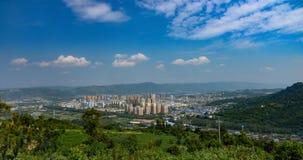 Panorama del condado de Yiliang foto de archivo