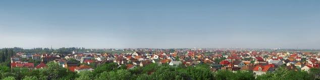 Panorama del cottage suburbano Immagini Stock Libere da Diritti