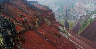 Panorama del cráter de Tarawera del soporte imagen de archivo libre de regalías