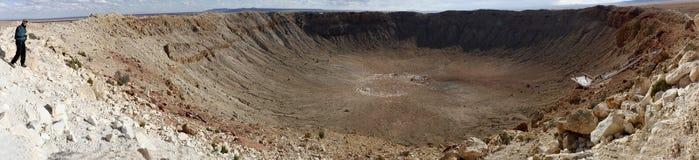 Panorama del cratere della meteora immagine stock libera da diritti