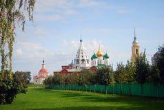 Panorama del Cremlino in Kolomna, Russia. Immagine Stock