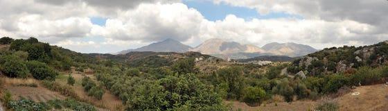 Panorama del Cretan Fotografie Stock Libere da Diritti