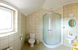 Panorama del cuarto de baño Foto de archivo libre de regalías
