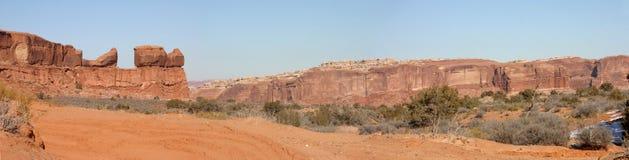 Panorama del deserto dell'Utah Fotografia Stock