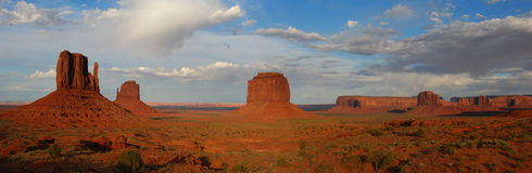 Panorama del deserto di tramonto Fotografia Stock Libera da Diritti