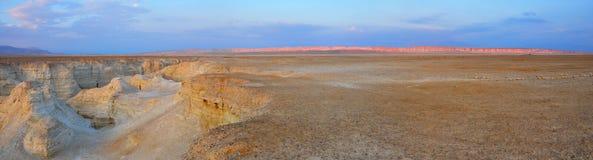 Panorama del deserto di Yehuda, Israele Fotografie Stock Libere da Diritti