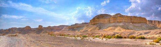 Panorama del deserto di Yehuda, Israele Fotografia Stock