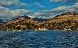 Panorama del distretto del lago Fotografie Stock