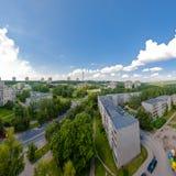 Panorama del distretto di Lazdynai a Vilnius, Lituania Immagini Stock