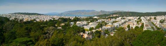 Panorama del distretto di San Francisco Richmond immagini stock libere da diritti