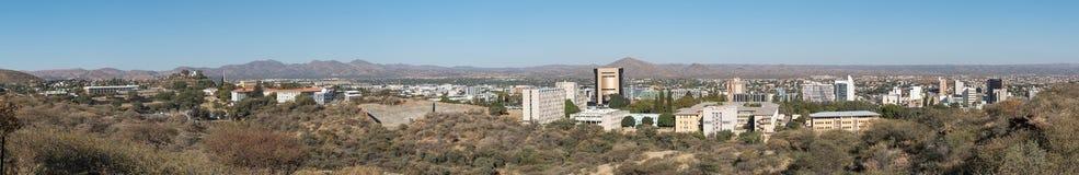 Panorama del distrito financiero central de Windhoek Fotos de archivo