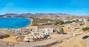 Panorama del distrito del maya del EL de Sharm, Sharm el Sheikh, Sinaí, Egyp fotos de archivo