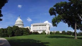 Panorama del edificio del capitolio de los E.E.U.U. Foto de archivo