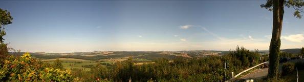 Panorama del Erzgebirge Fotografia Stock