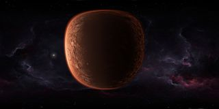 panorama del espacio exterior de 360 grados con el planeta Marte, mapa del ambiente HDRI Proyecci?n esf?rica de Equirectangular P libre illustration