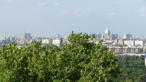 Panorama del estadio de Moscú y de Luzhniki almacen de video