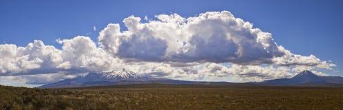 Panorama del este de Ruapehu imagen de archivo libre de regalías