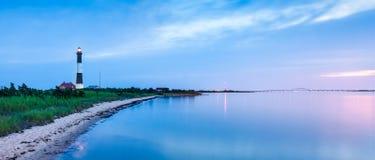 Panorama del faro de la isla del fuego Imágenes de archivo libres de regalías