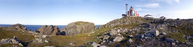 Panorama del faro di Bonavista del capo fotografia stock libera da diritti