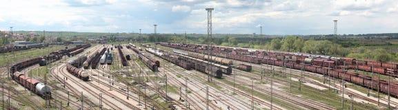 panorama del ferrocarril Fotografía de archivo libre de regalías