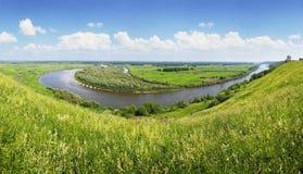 Panorama del fiume Fotografia Stock