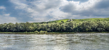 Panorama del fiume Immagine Stock