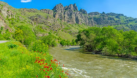 Panorama del fiume Kura Fotografia Stock