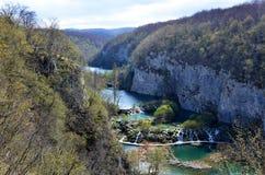 Panorama del fiume Vally Watterfalls di Korana a  Immagini Stock Libere da Diritti