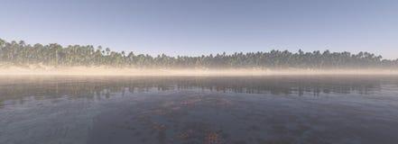 Panorama del fondo tropical de la isla Imagenes de archivo