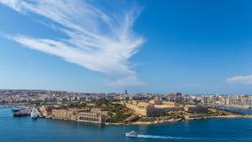 Panorama del fuerte Manoel en La Valeta, Malta Foto de archivo